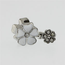 ba549ae95 7 Color flower Bead Crystal Bead Charm European Beads fit Pandora Women  Bracelet & Bangle DIY jewelry