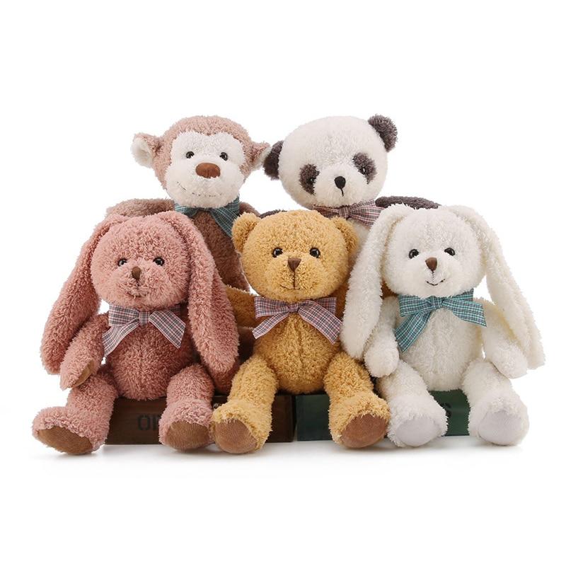 Kawaii plush kids toys brinquedos stuffed animal dolls baby toy Panda/monkey/bear/rabbit for children girl toys gifts 32 цена