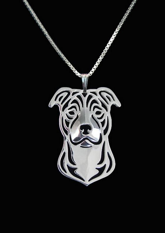 Ожерелье с мультяшной собакой персонажа стаффордшира Бультерьера