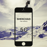 10pcs For Iphone 5C LCD Display Shenchao Quality Touch Screen Digitizer Assembly 4 Inch Black White