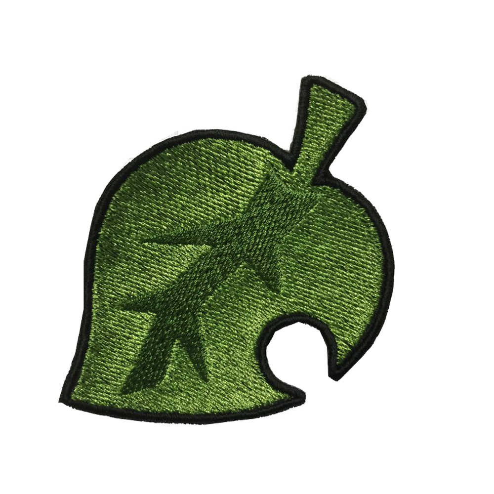 1 Pcs Animal Crossing Leaf Patch Diy Strepen Kleding Patchwork Sticker Custom Bloemen Applique