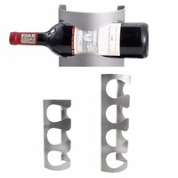 Stainless Steel Wine Rack Bar Decor Wall Mounted Holder 3 4 Bottles Stand New