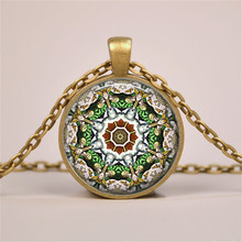 Collares 2016 Fashion Mandala Necklace Pendant for Women Vintage Yoga Collier Choker Necklace Jewelry Bijoux Colar Feminino