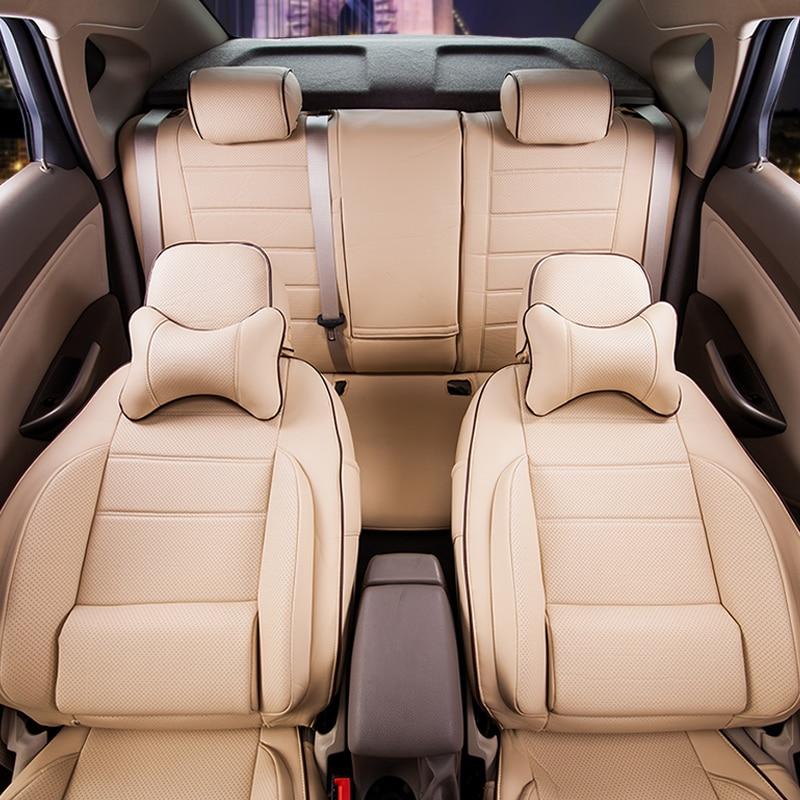 Hyundai New SantaFe oturacaqları üçün CARTAILOR PVC dəri - Avtomobil daxili aksesuarları - Fotoqrafiya 4