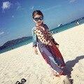 Meninas vestem Crianças Vestidos de Verão Vestido de Meninas roupas Roupas infantis de menina Vestidos de praia Boêmio Impressão crianças Nacionais