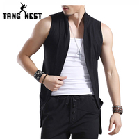TANGNEST 2016 Open Stitch Men S Fashion Top Selling New Style Sweater Vest Outwearing Solid Color