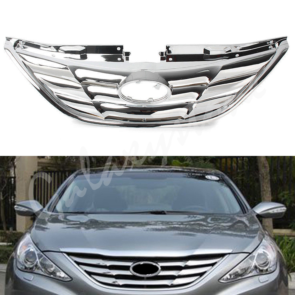 цены Front Grill Grille ABS Chrome Fit For Hyundai Sonata 2011 2012 2013 11 12 13