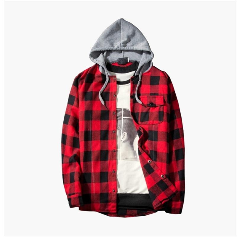 Casual Plaid Shirts Hooded  4
