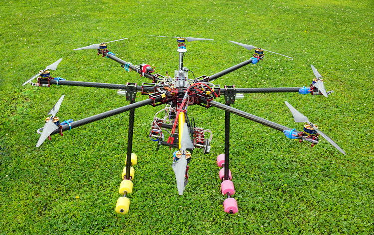 aliexpresscom buy hh lj 1450mm large scale professional 25mm folding x8 drone uav octocopter framemotorprosescs kit for aerial photography from