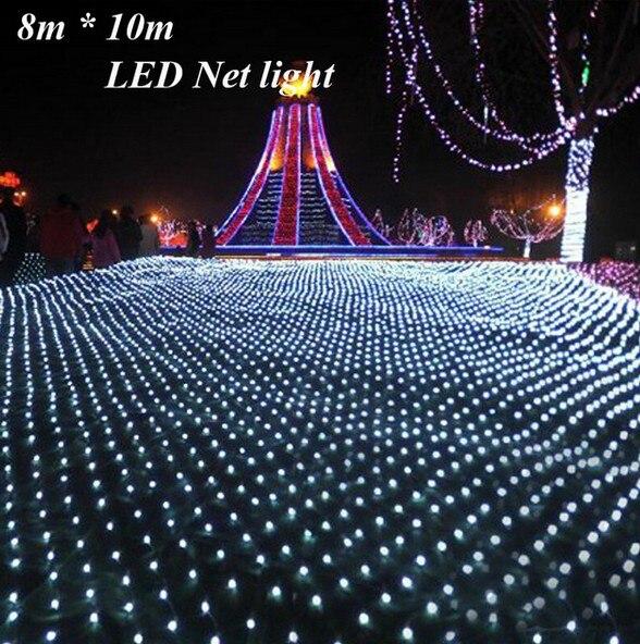 3m 2m 200led Led Net Lights Large Outdoor Christmas Decorations Garden Mesh Fairy Light