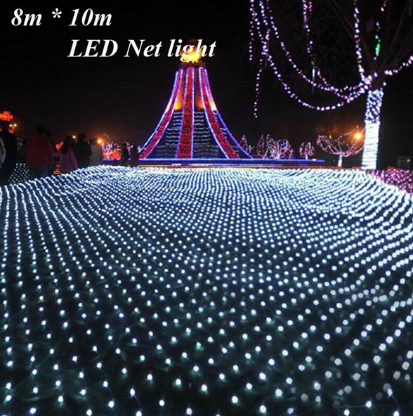 Online 3m 2m 200led Led Net Lights Large Outdoor Christmas Decorations Garden Mesh Fairy Light Waterproof Ac 220v Aliexpress
