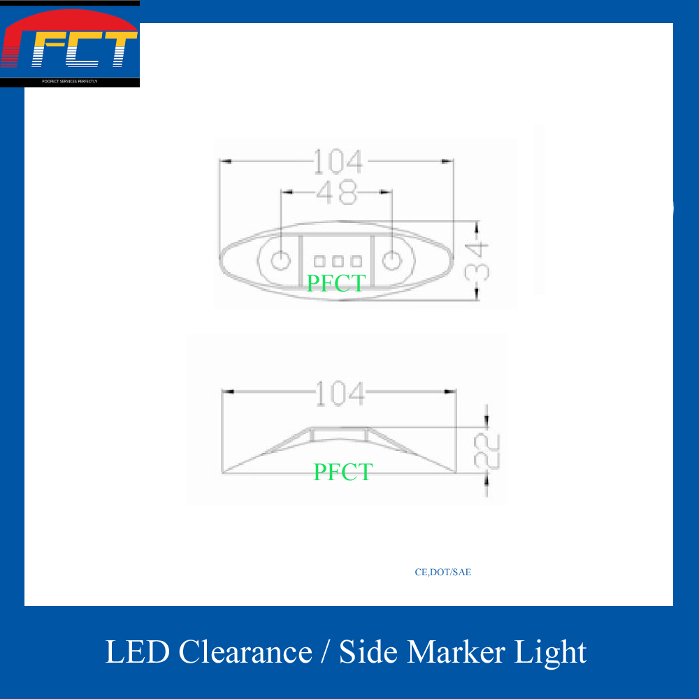 Free Shipping 12v 2pcs Submersible Led Side Marker Light Clearance Dot Trailer Diagram Lamp For Truck Boat Ute In Car Assembly From Automobiles Motorcycles On