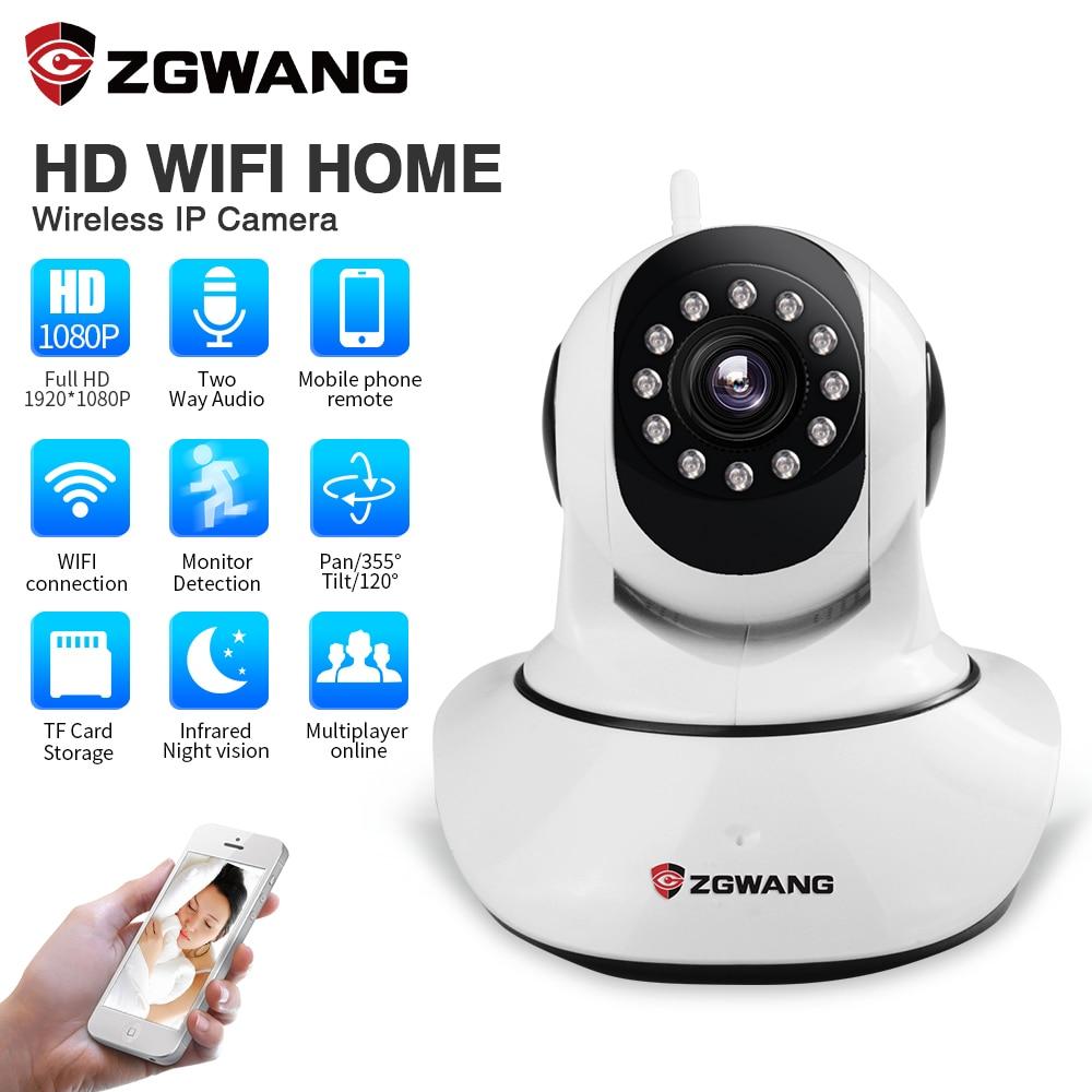 ZGWANG 1080P Drahtlose Sicherheit IP-Kamera 2MP Home CCTV-Überwachungskamera P2P IR-geschnittenes Nachtsichtnetzwerk Indoor-Babyphone