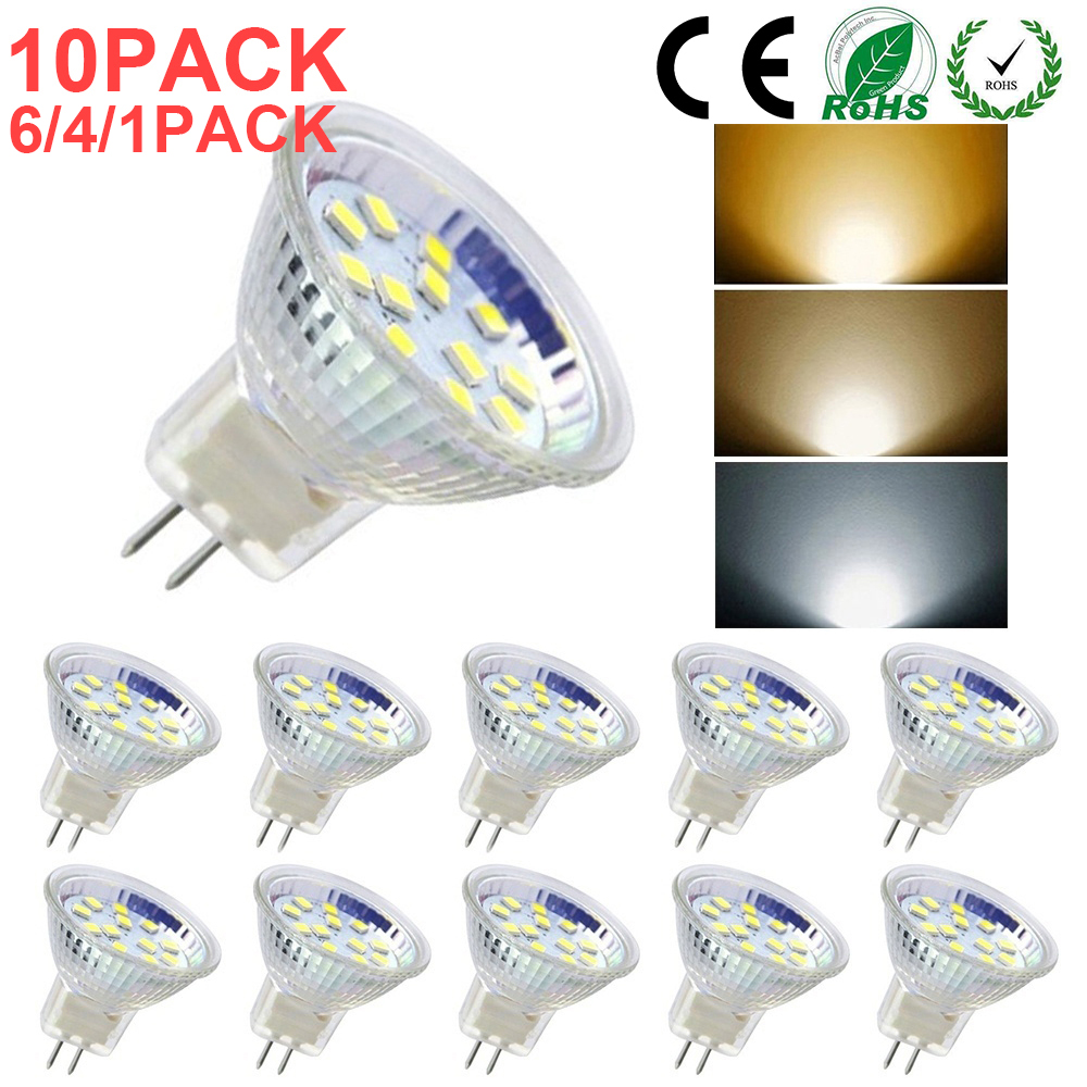 MR11/GU4 LED Bulb AD/DC 12V-24V  Warm/Cold/Neutral White  For Ceiling Lights Replace Halogen Lamp 1/4/6/10PACK D30