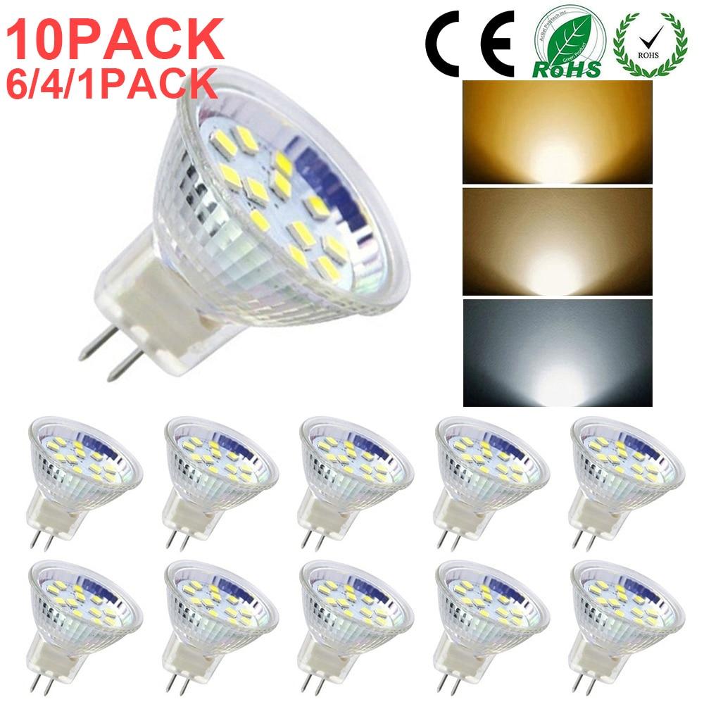 MR11/GU4 LED Bulb AD/DC 12V-24V  Warm/Cold/Neutral White  For Ceiling Lights Replace Halogen Lamp 1/4/6/10PACK D30