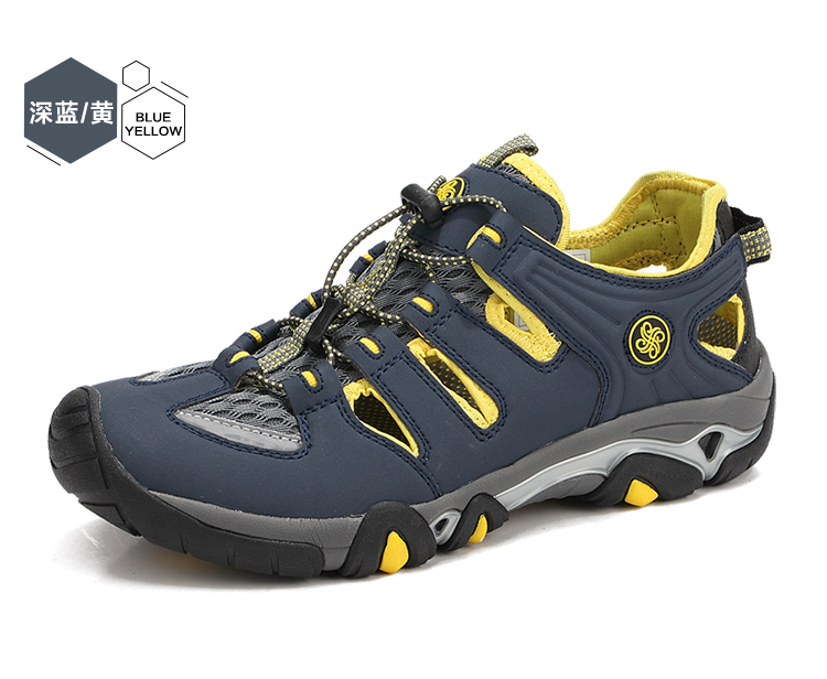 ФОТО The new Adult outdoor beach boot shoes, men's shoes in summer Air movement leisure sandals Men in baotou hole hole shoes