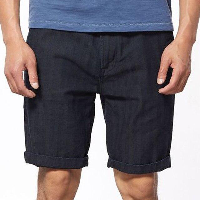 dc50a7717a Summer Vintage Indigo Dyeing Cargo Denim Shorts Men Bermuda Masculina Mens Short  Pants Blue Jeans Streetwear Shorts Clothes 2018
