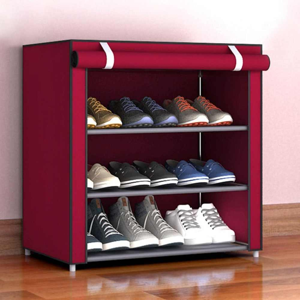 4 5 6 Layer Large Size Shoes Rack Non Woven Storage Racks Dustproof