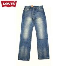 Levi's 2017 501 Series New Men's Jeans Autumn Winter Blue Color Casual Denim Pants Men Pleated Long Trousers  Women L363