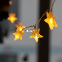 220V/110V 10M 100Led Frosted Crackle Star Garland String Lights Fairy Lights for Wedding party Garden Christmas decorations