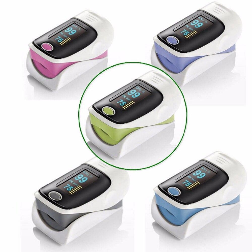 Oxymètre de doigt Portable précision durabilité numérique OLED doigt oxymètre de pouls SPO2 fréquence cardiaque moniteur d'oxygène soins de santé