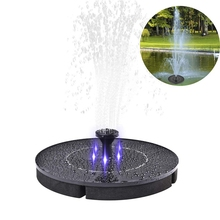 цена на 2.4W LED Solar Fountain Watering Kit Power Solar Pump Pool Pond Submersible Waterfall Floating Solar Panel Water Fountain Pump
