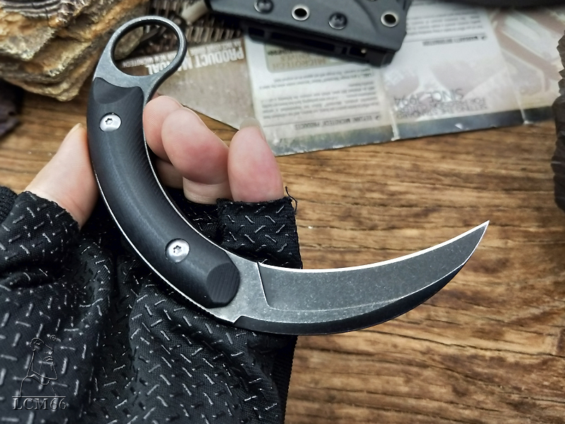 LCM66 tactical karambit High-end D2 steel scorpion claw knife outdoor camping jungle survival battle Fixed blade self defense cs