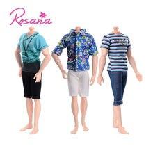 2399e17fe4d Rosana mode manches courtes + pantalon tenue décontracté pour Barbie copain  Ken poupée vêtements poupées pantalons