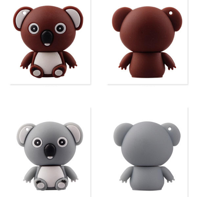 Neue Cartoon <font><b>Koala</b></font> <font><b>Pendrive</b></font> 128 GB USB-Stick 128 GB 64GB <font><b>32GB</b></font> 16GB 8 GB Stift stick Personalizado USB Flash Disk Memory Stick image