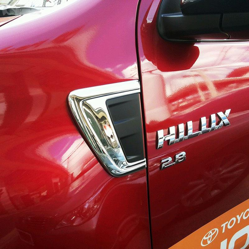 Reliable Auto Parts >> Aliexpress.com : Buy 2016 for toyota hilux revo accessories chrome decorative trim hood for ...