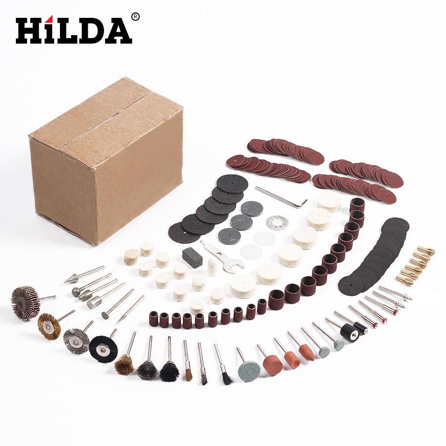 HILDA  264 Pcs/set For Dremel Rotary Tool Accessory Set Fits For Dremel Drill Grinding Polishing Dremel Accessories