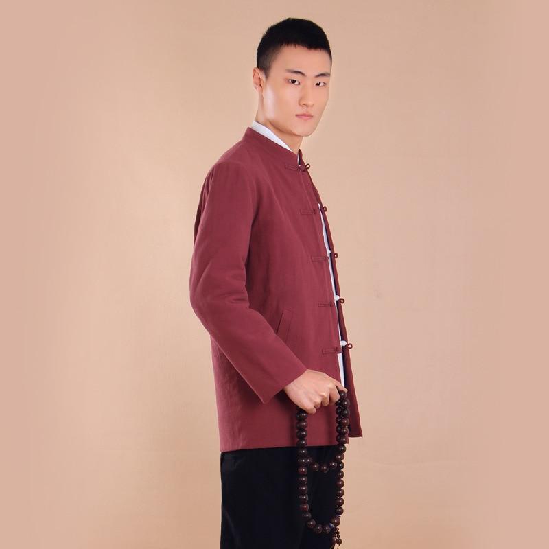 Костюм Тан хлопковые брюки с длинными рукавами китайская ветровая пластина пряжки дзен медитация ведущий восстановление древних способов