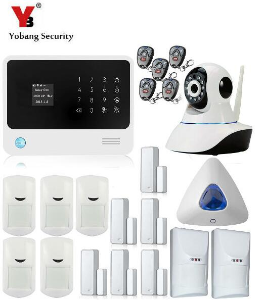 YobangSecurity G90B GPRS WIFI Wireless Auto Dial Home Security Alarm System APP Control PIR Detector Pet Immune IP Camera Alarm yobangsecurity g90b wifi gsm wireless home security alarm system with ip camera door gap sensor pir detector rfid keypad alarm