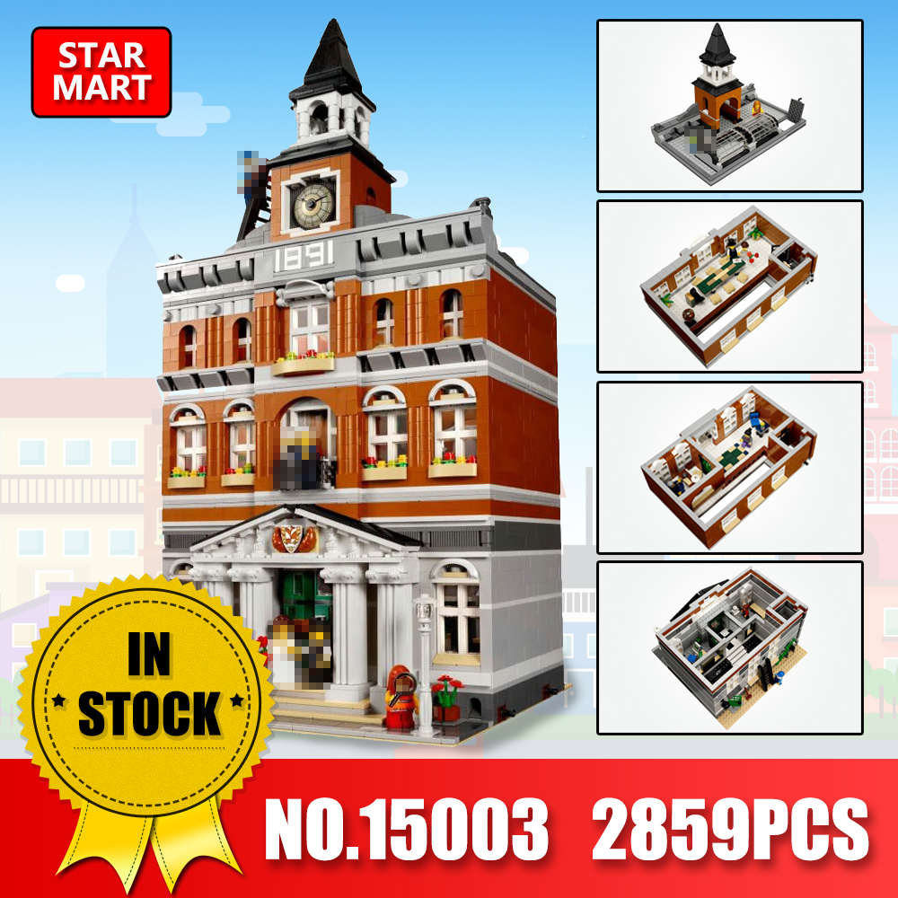 Lepin 15003 The Town Hall Model Building Blocks Kid Toys Kits Compatible legoINGe 10224 Educational Children Gifts Toys in stock lepin 15003 creators the town hall model compatible legoing 10224 building kits blocks kid diy toy gifts for children