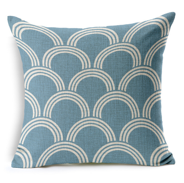 Geometry Cushion Home Car Decorative Throw Pillows New Arrival Branded Cushions Funda Cojines Wave Coussin Decoration CH5D03 In From Garden