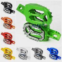 For Kawasaki KX250 KX250F KX450F KX 250 450 F 250F 450F KLX450 KLX CNC Footpegs Dirt Bike Foot Pegs Stakes Sharp Teeth Pedal