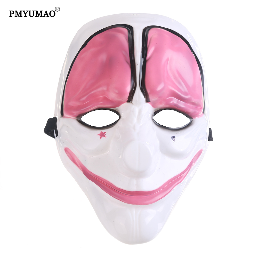 PMYUMAO Party Mask Halloween Clown Comedy Mask PayDay 2 Houston ...