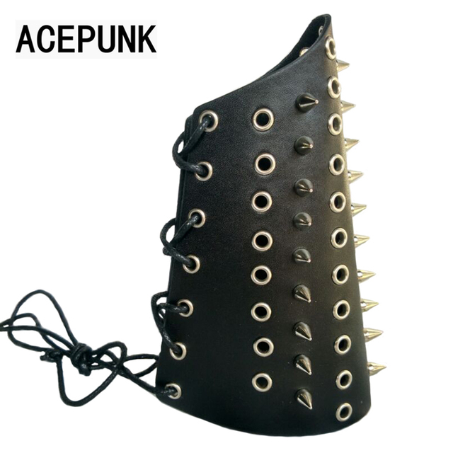 Punk Spike Bracelet Cool Night Club Cosplay Bangle Spikes Rivet Stud Wide Cuff Leather Gothic