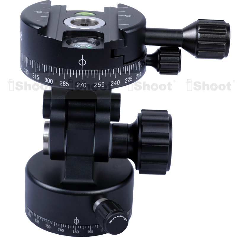 2D 360 Panoramic Panorama Panning Ball Head for Camera Tripod Ballhead Quick Release Plate -360 Head&Bottom- HOT ITEM xiletu j2 360 panoramic panorama ballhead clamp aluminum alloy tripod head with quick release plate damping tuning system