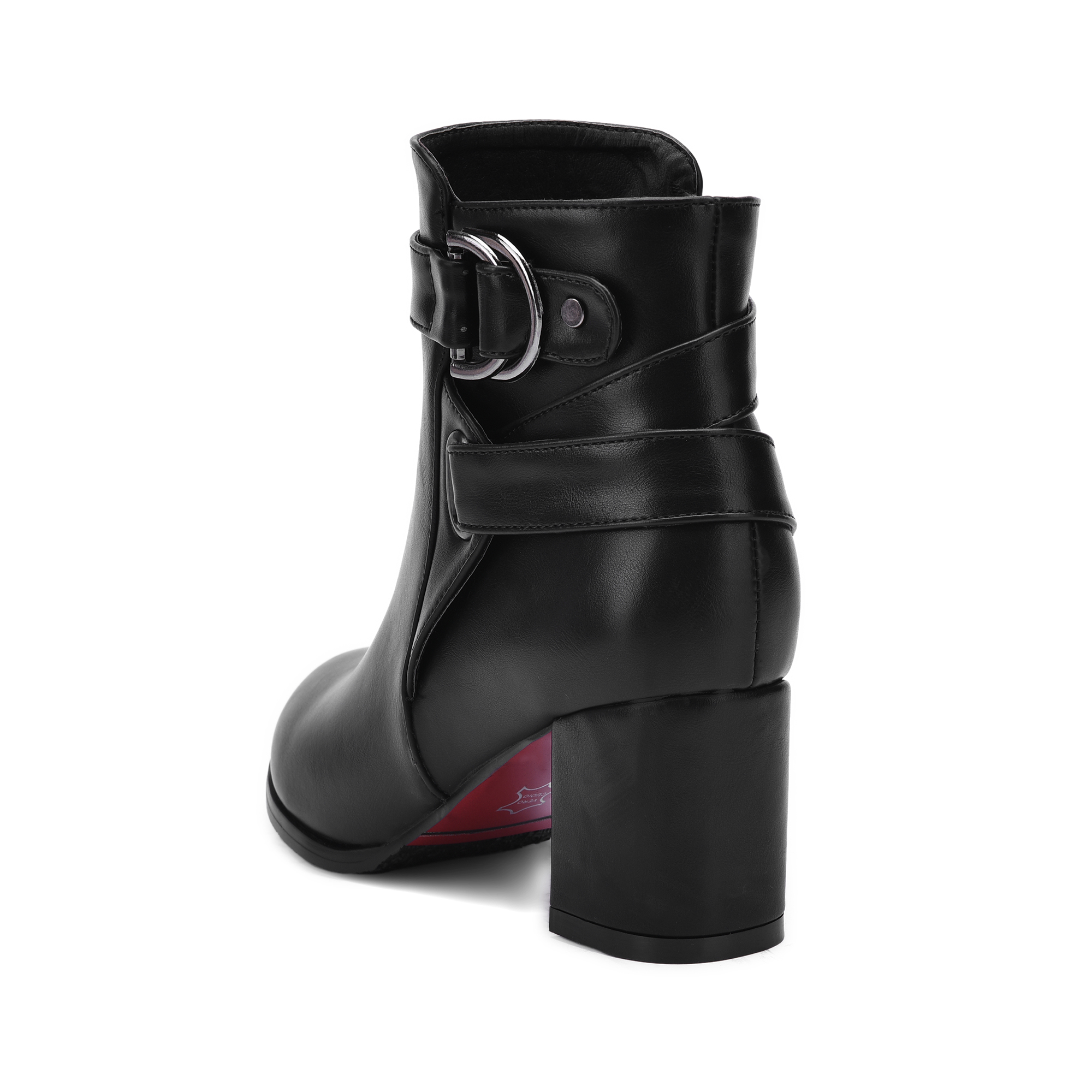 Image 5 - Autumn Women Boots Square High Heel Ankle Boots Fashion Pointed Toe Buckle Winter Zipper Boots Female Shoes Black White Beige-in Ankle Boots from Shoes