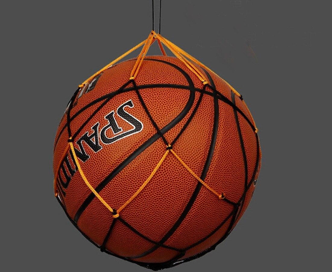 Nylon Net Bag Ball Carry Mesh Volleyball Basketball Football Soccer Useful JS