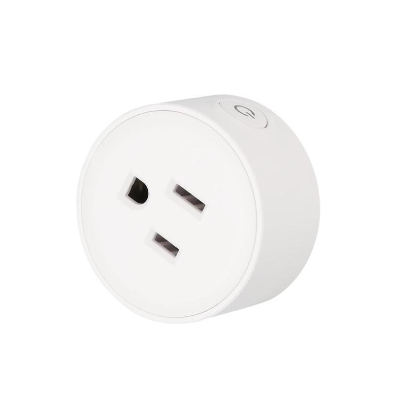 Wifi Smart Plug Wi-Fi Enabled Mini Socket App Remote Control Wireless Portable Automatic Timer Sockets with ON OFF Switch ZZ5 wi fi enabled mini outlets smart socket control your electric devicsmart us plug wifi smart wireless socket m 16