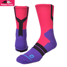 American GAMEDAY Basketball Socks for Men Cotton Nylon Deep Heel Pockets Compression Socks Cycling Hit Color Crew Sox