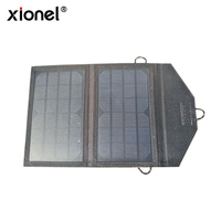 Xionel 7W Electronics Camping Portable Solar Charging Bag Foldable Solar Panel Power USB Battery Charger For