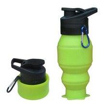 Nueva Silicona Plegable Botella de Agua Drinkware Outdoor Ciclismo Hervidor de Agua Portable 530 ml
