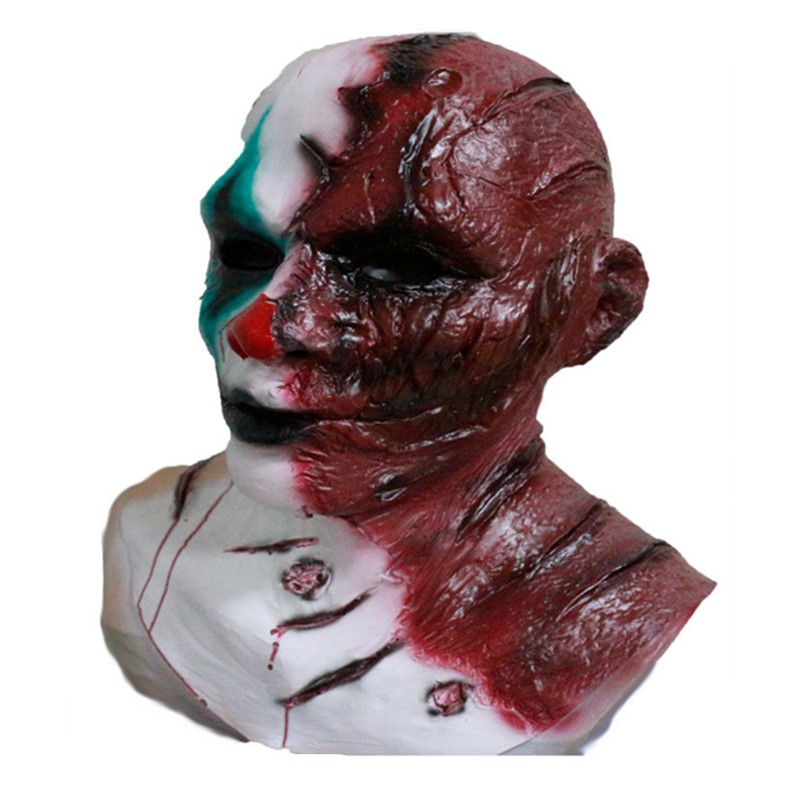 Top Selling Newly Design Deluxe Quality Realistic Party Dress Adult Latex Rubber Halloween Clown Demon Evil Mask in Party Masks from Home Garden