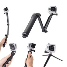 3 Way Selfie Stick Grip Waterproof Action Camera POV Monopod Surfing Diving Extendable For Gopro Hero 5 6 4 Camera Tripod Stand цена