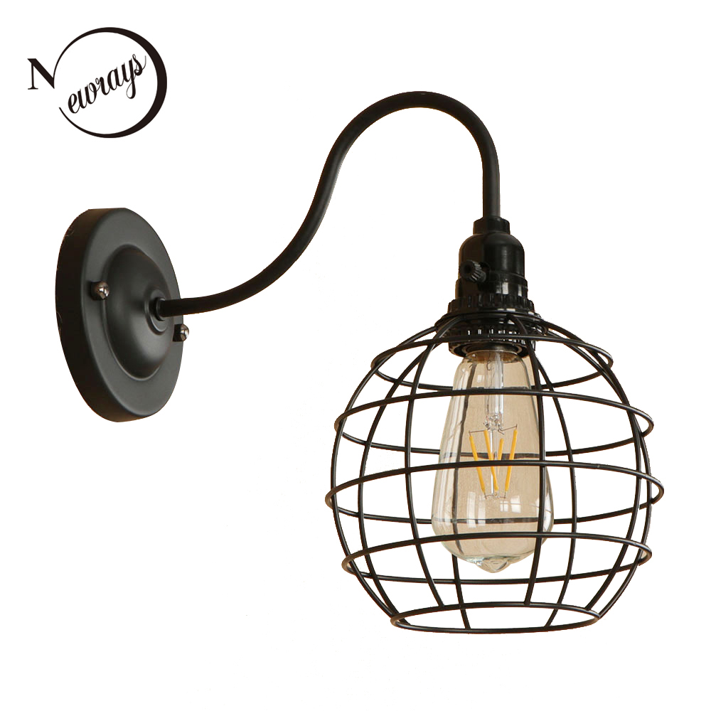 Vintage painted minimalist iron black wall lamp LED E27 220V wall light for living room pathway corridor restaurant shop gardenVintage painted minimalist iron black wall lamp LED E27 220V wall light for living room pathway corridor restaurant shop garden