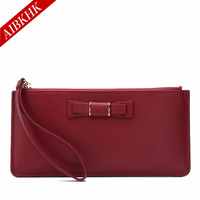 100 Genuine Leather Women Long Wallets High Quality New Fashion Female Girl Petty Luxury Coin Purse
