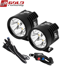 2PCS GOLDRUNWAY GR EXP4 3000lm Headlight Driving Fog Spotlight Assist font b Lamp b font For